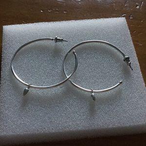 Stella and Dot silver hoop earrings